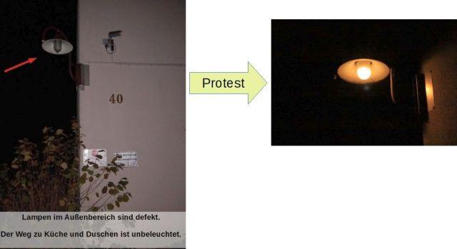 Protest macht Licht